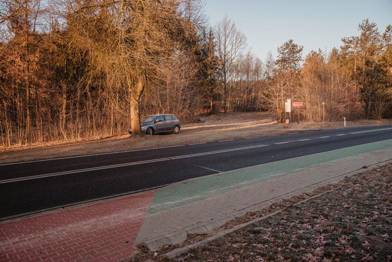 Góra Zborów - parking
