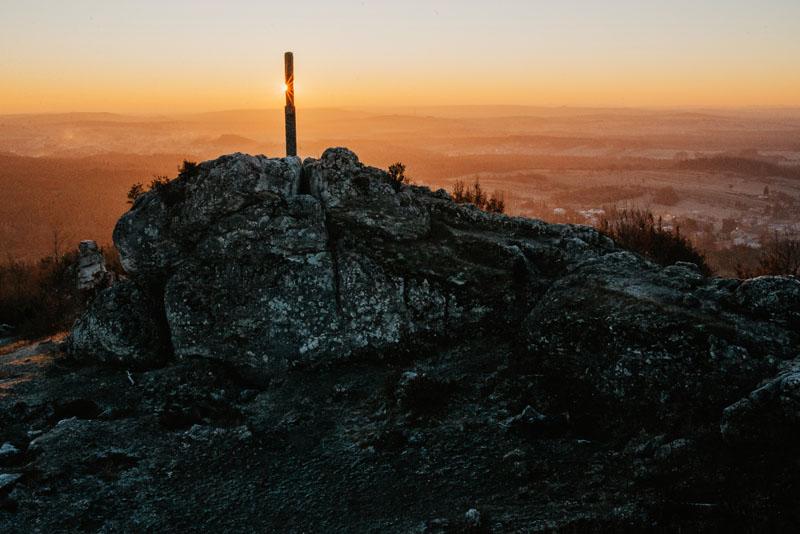 Góra Zborów - wieża triangulacyjna
