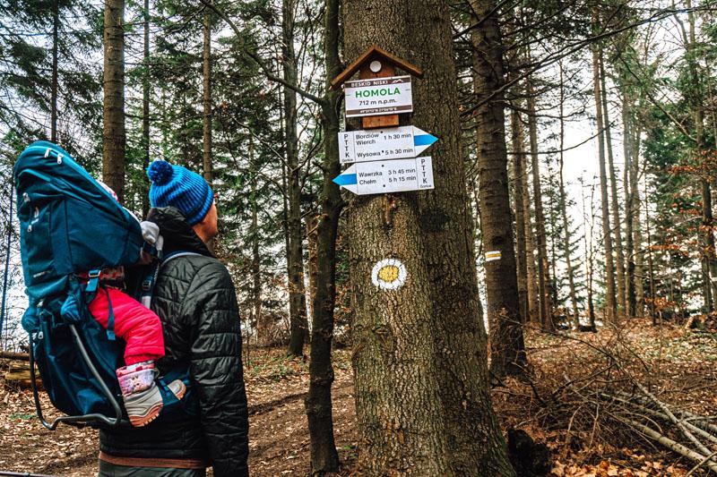 Homole - oznaczenie szczytu w Beskidzie Niskim