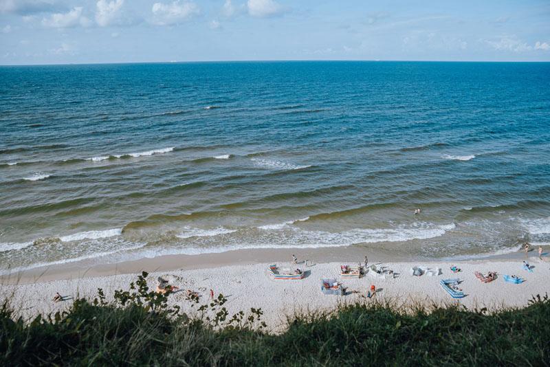 Najbardziej wysunięty punkt na północ Polski znajduje się na plaży w Jastrzębiej Górze
