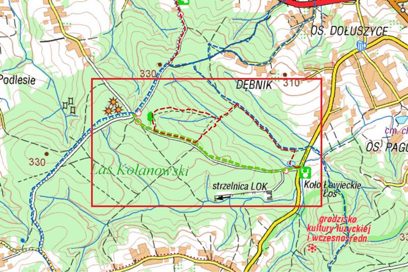 Las Kolanowski mapa
