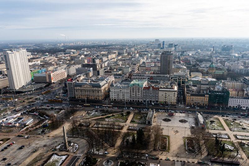 Taras widokowy Pałac Kultury i Nauki Warszawa
