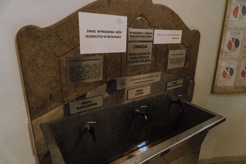 W sanatorium Marconi można napić się wody