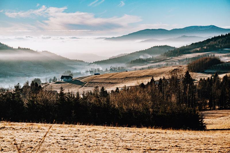 Słopnice - widok na Tatry i Gorce