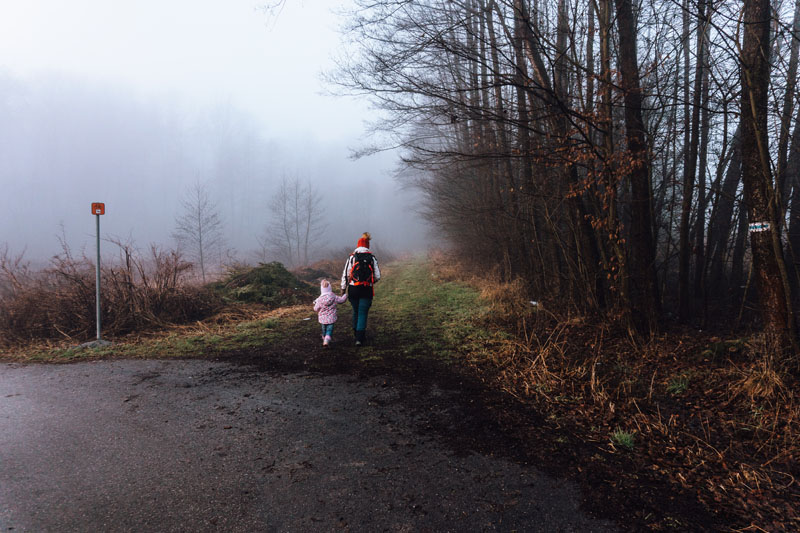 Szlak niebieski na Bocheniec