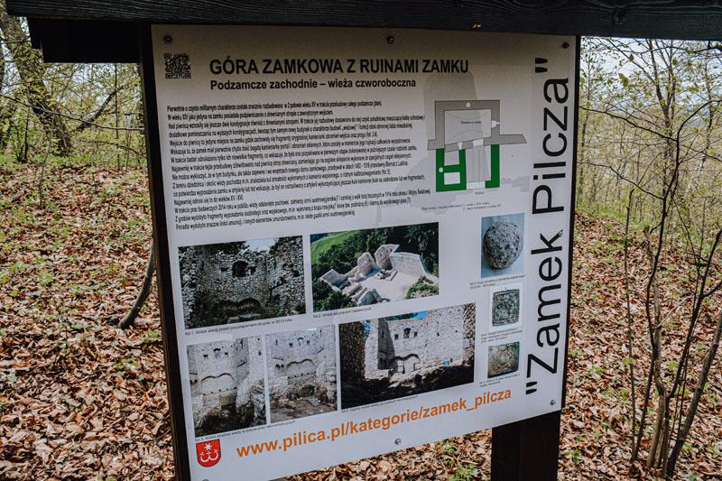 Tablica edukacyjna Zamek Pilcza