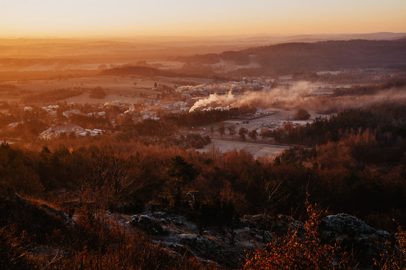 Wschód słońca Zborów Góra