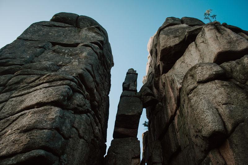 Granitowe bloki skalne Karkonosze