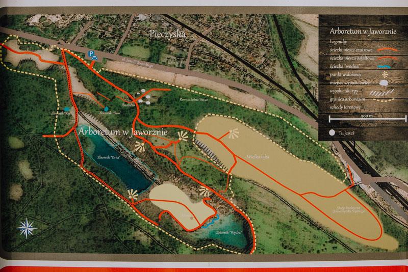 park gródek mapa jaworzno
