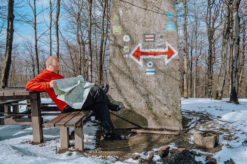 Korona Ziemi Sanockiej - mapa