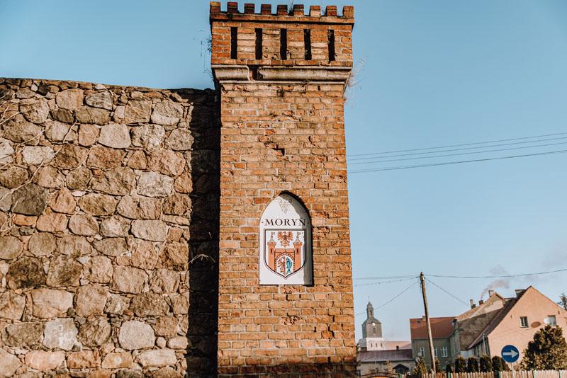 Mury miejskie w Moryniu