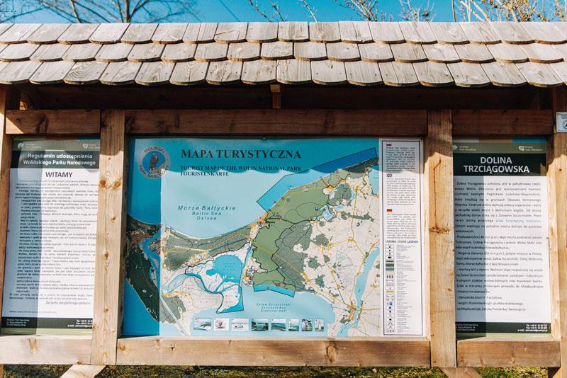 mapa wolińskiego parku narodowego