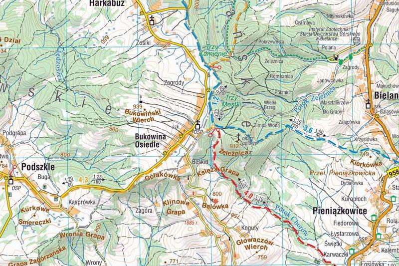 bukowiński wierch mapa