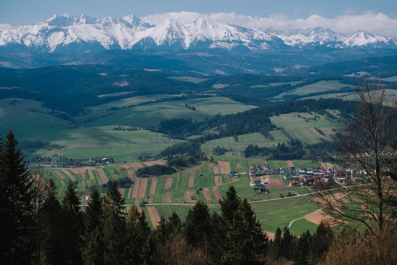 Polany widokowe pod szczytem Macelak