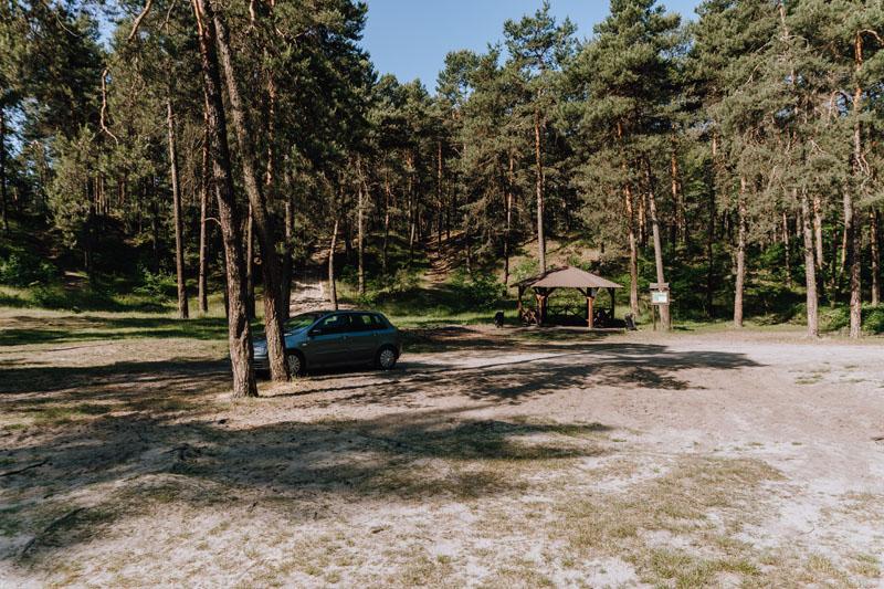 parking przy meandrach rzeki Sztoły