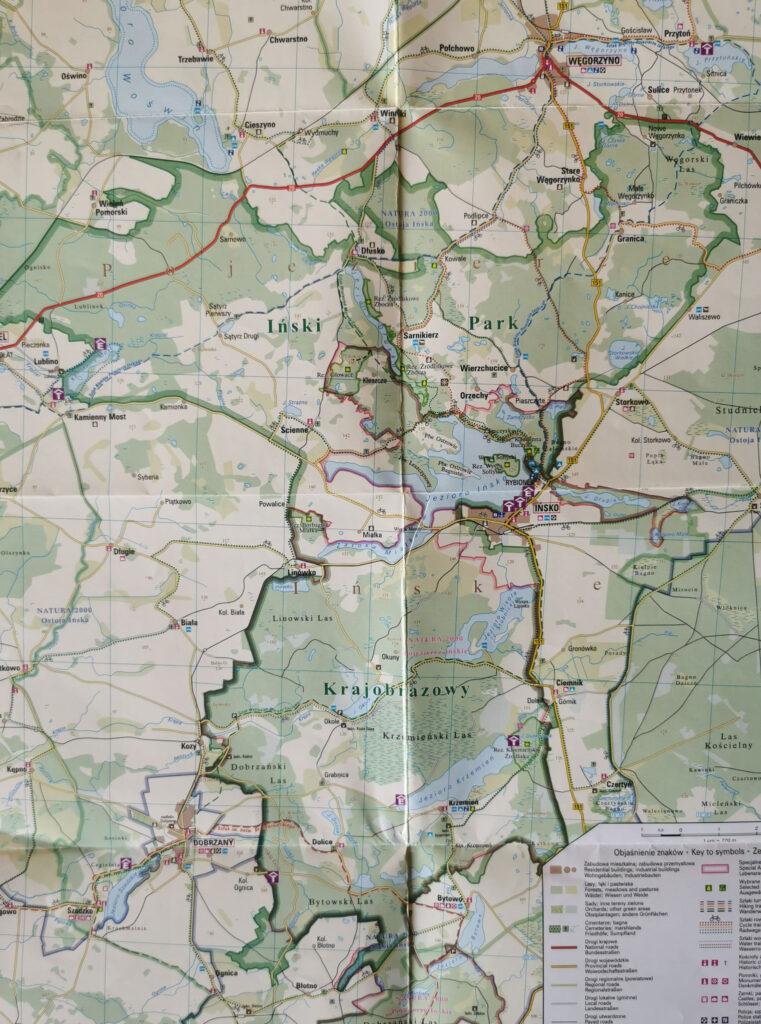 Iński Park Krajobrazowy mapa