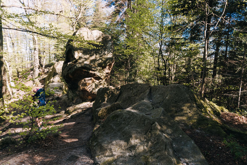 Skałki ostańcowe Orle Skałki i punkt widokowy