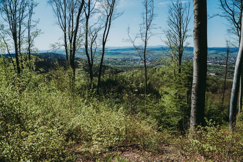 Punkt widokowy na Bieszczady ze szlaku do Sanoka