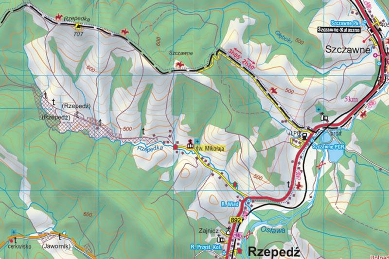 Mapa Rzepedka