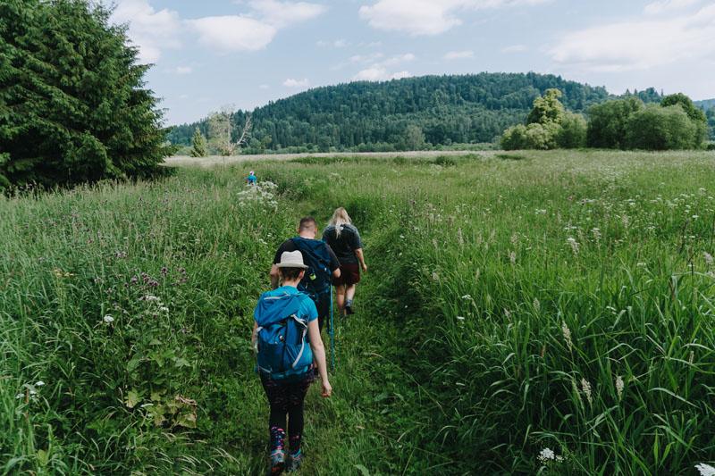 Dźwiniacz Górny - ścieżka przyrodniczo-historyczna z Bazy nad Roztokami