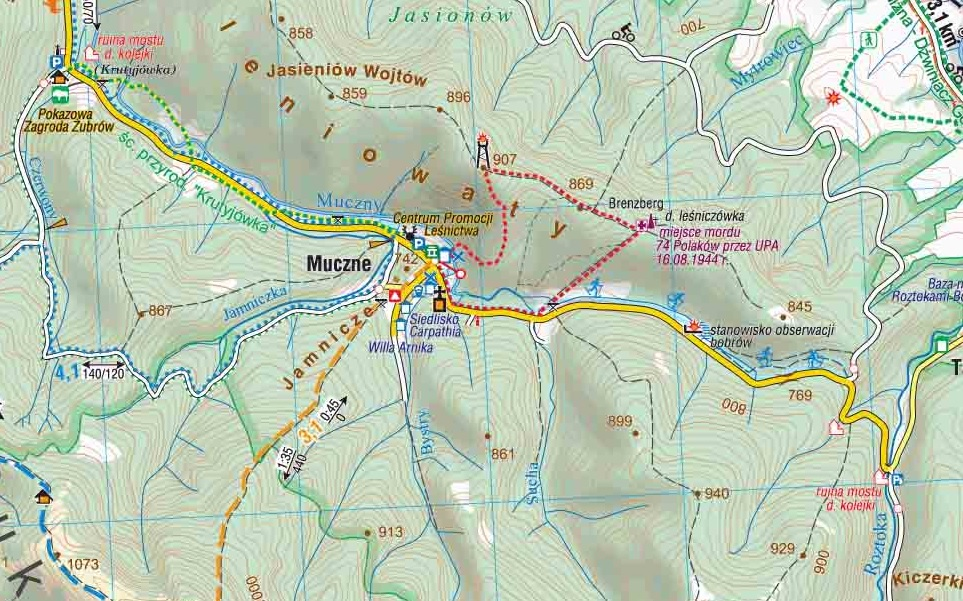 Mapa Jeleniowaty