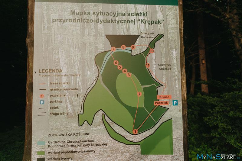Krępak - mapa