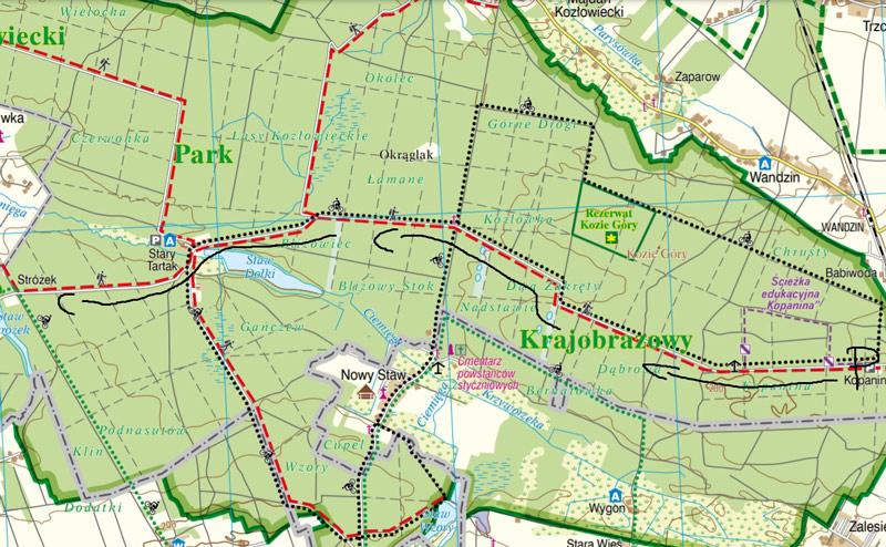 Szlak rowerowy w Kozłowieckim Parku Krajobrazowym