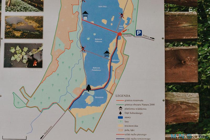 Mapa Rezerwatu Przyrody Łężczok
